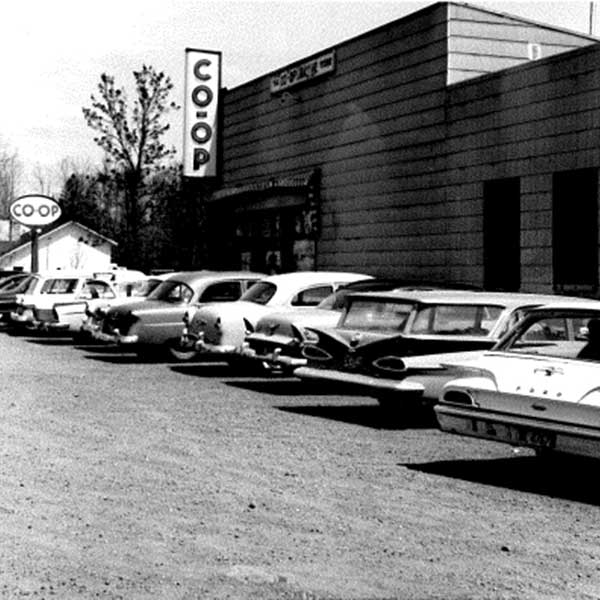Vintage photo Finland co-op gas station and groceries