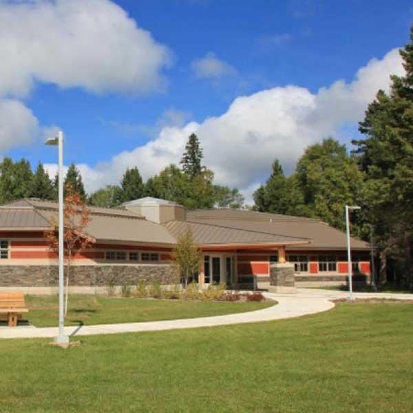 Exterior of grand portage State Park visitor Center