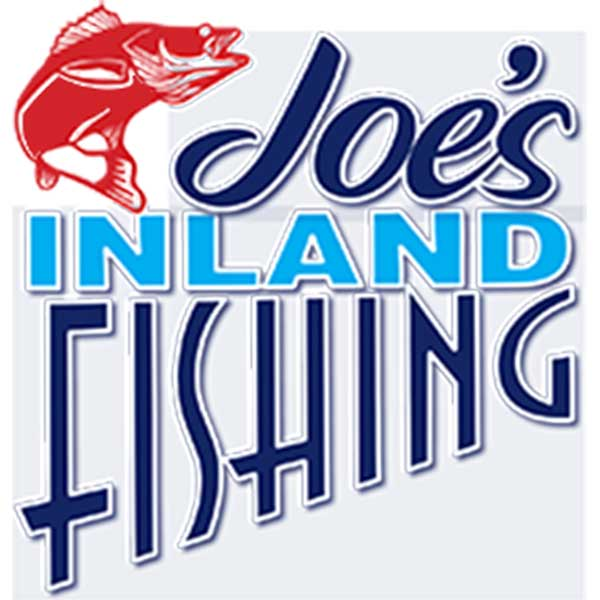 joes inland fishing guide service logo with walleye