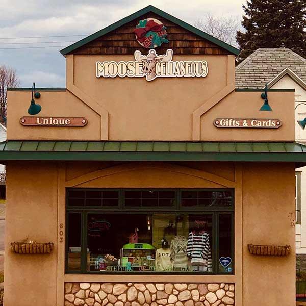 Gift shop display window moose cellaneous