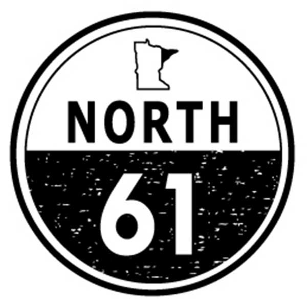 Circle with state of Minnesota and North 61