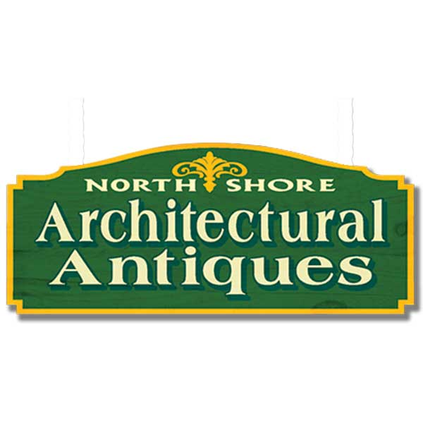 Green sign in North shore architectural antiques