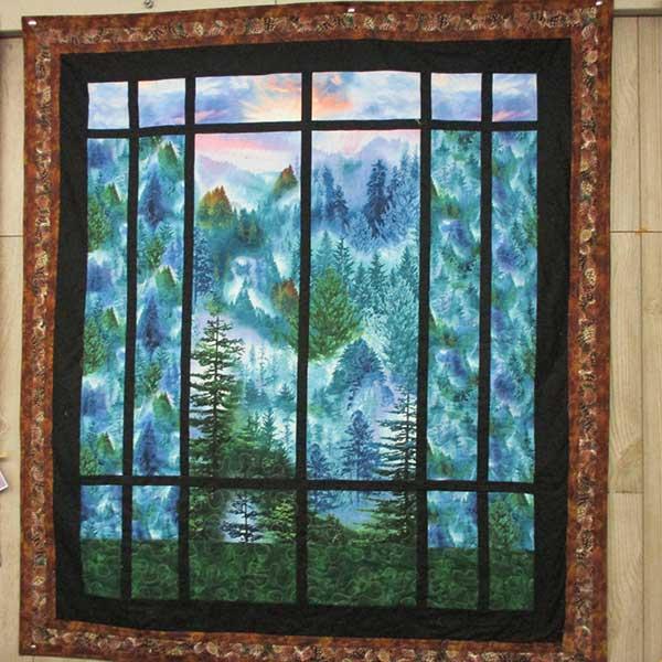 Pine Hills quilt wall hanging at quilt corner beaver Bay