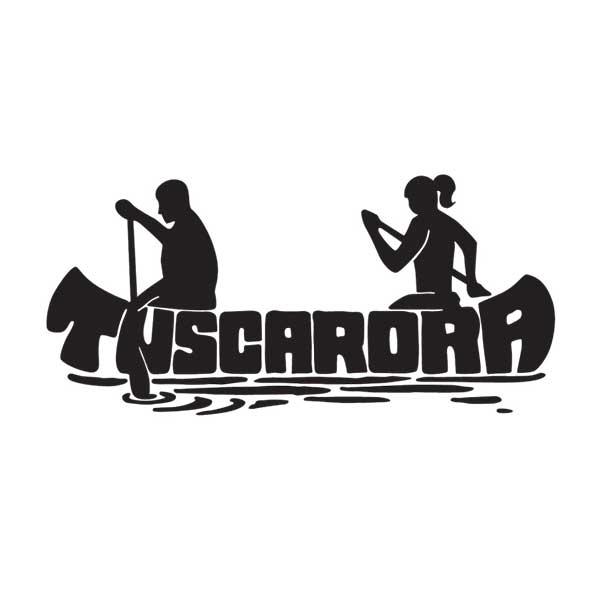 tuscarora lodge and canoe outfitters stylized canoe logo