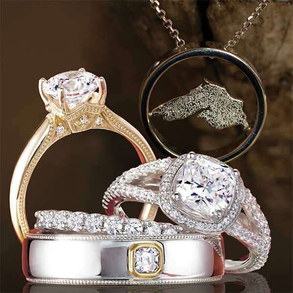 diamond rings and lake superior necklace