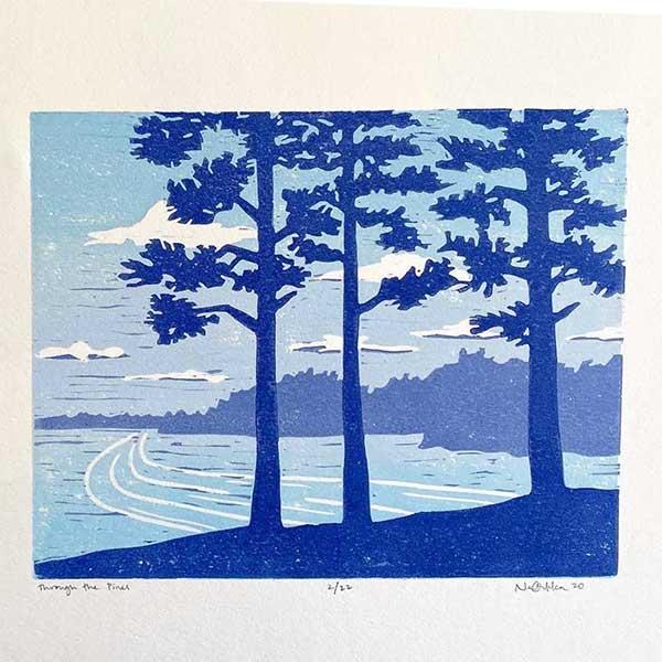 Northern Horizon - Exhibit of Woodblock by Nan Onnka