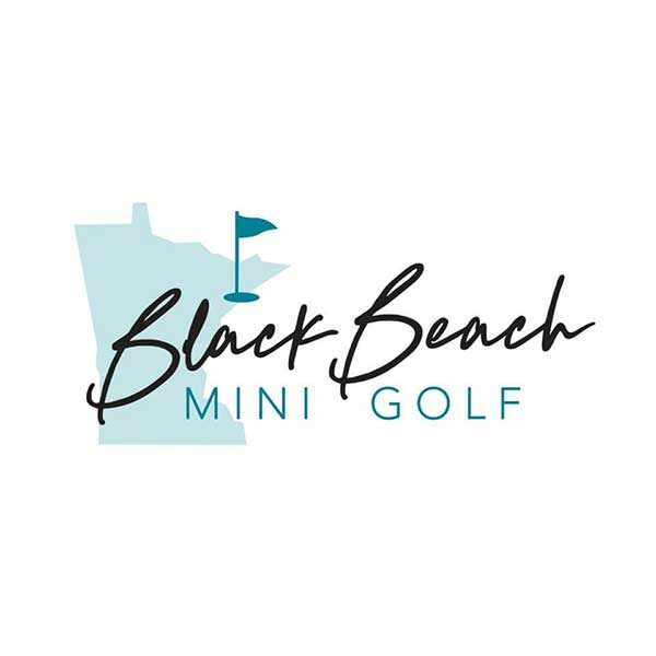 black beach mini golf logo