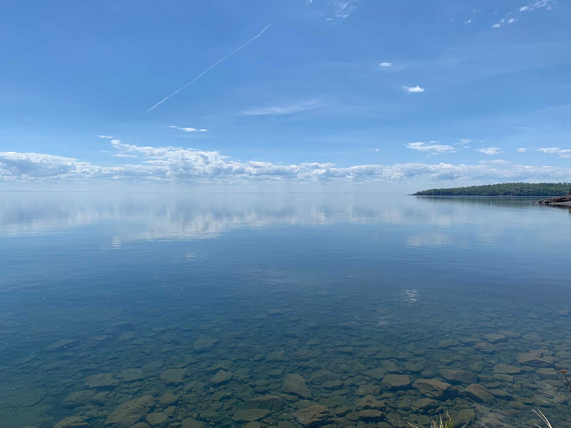calm lake superior