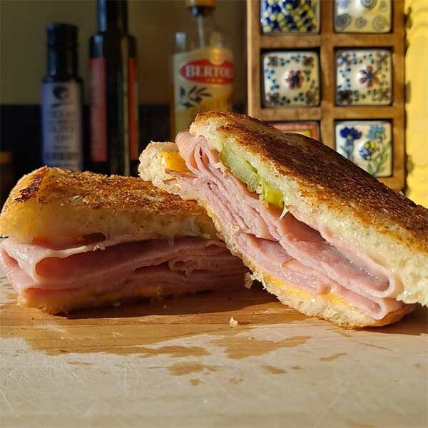 grilled ham and cheese from toasty roma's