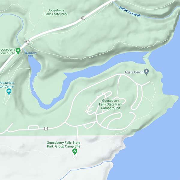 map of gooseberry falls state park campground