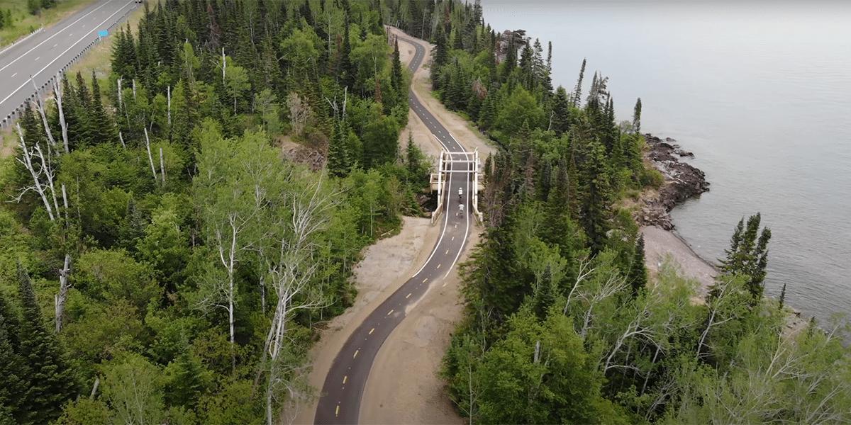 bikers on fall river bridge