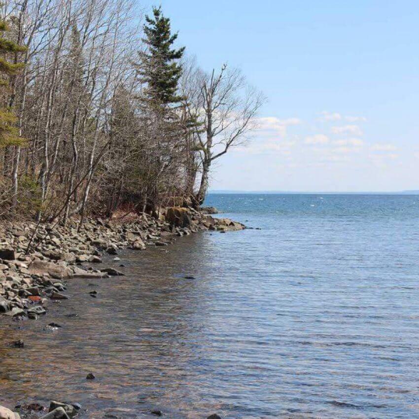 stoney point lake superior rocky shoreline off scenic highway 61