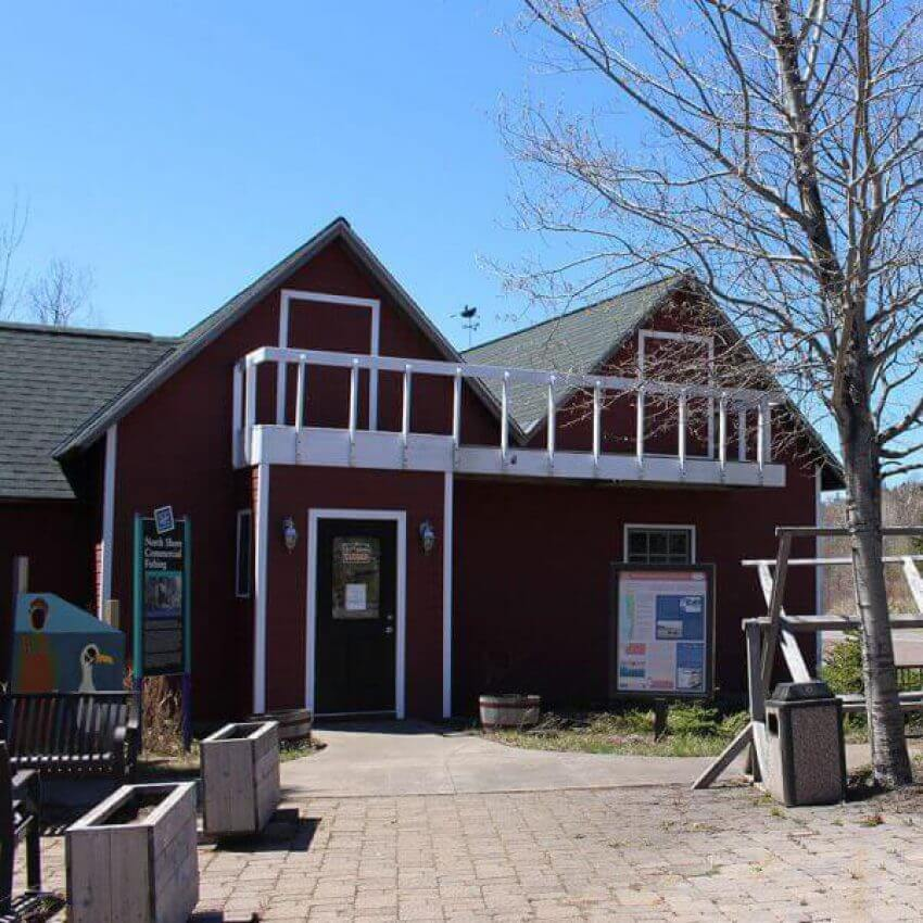 twin red fish houses commercial fishing museum tofte lake superior