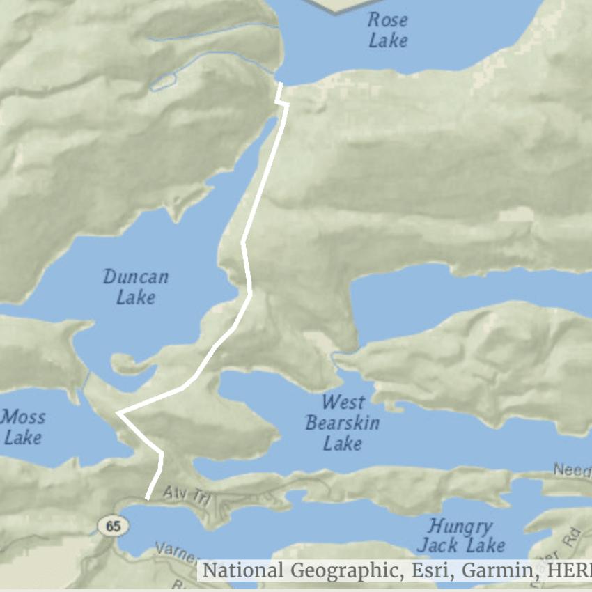 caribou rock hiking trail map
