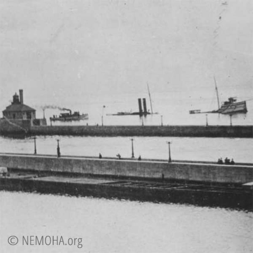 george hadley split and sunk in two duluth canal 1902
