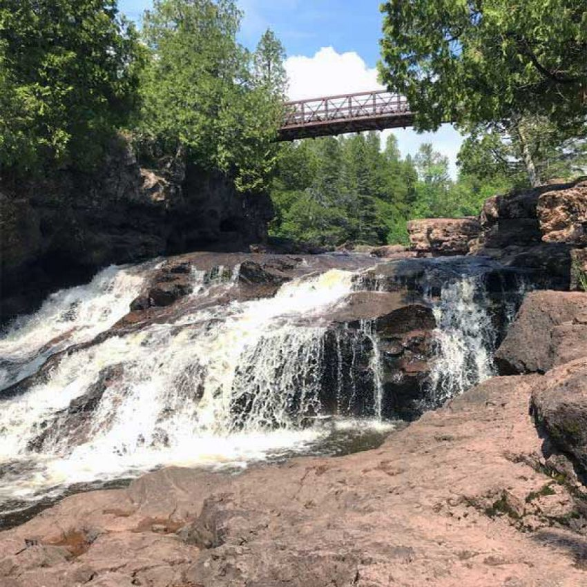 fifth falls gooseberry river in summer