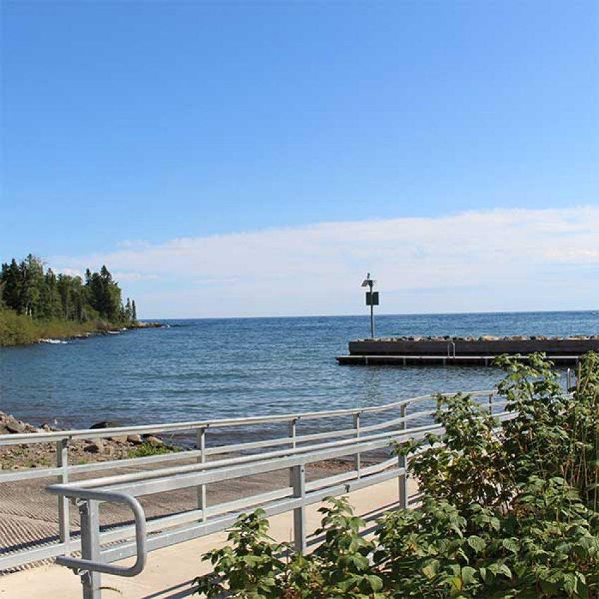boat access and small lake superior harbor