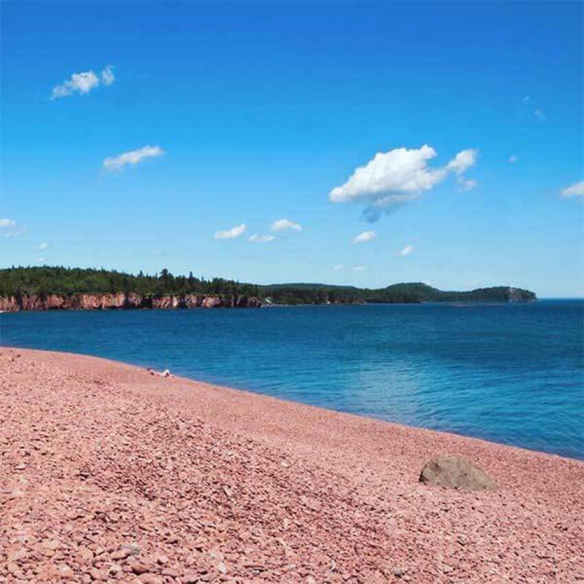 iona's cobblestone beach lake superior
