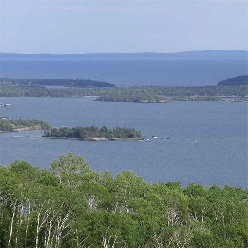 susie island and isle royale from mount josephine overlook