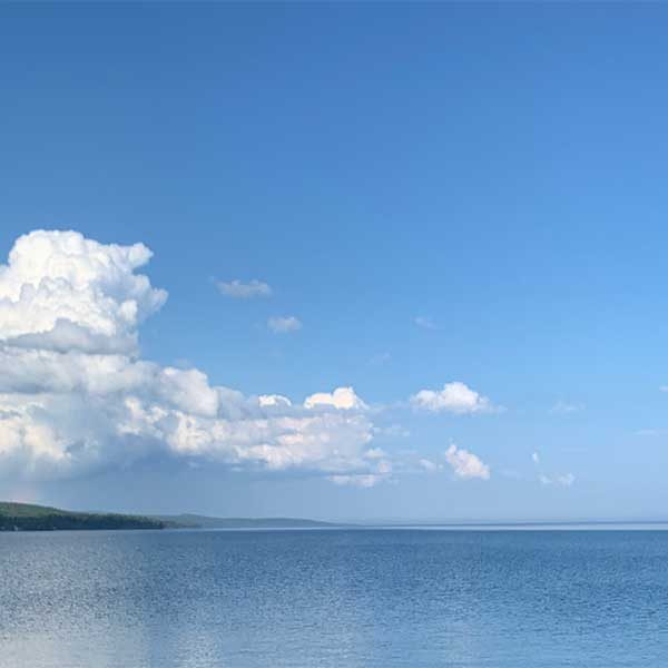 wide open expanse of lake superior