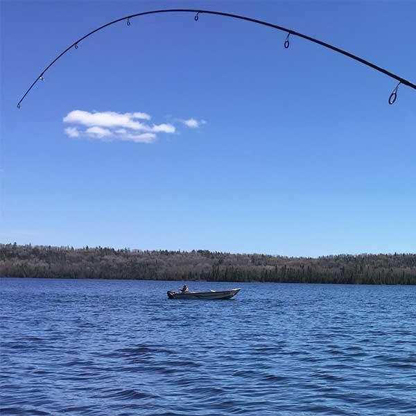 inland lake walleye fishing mn boat