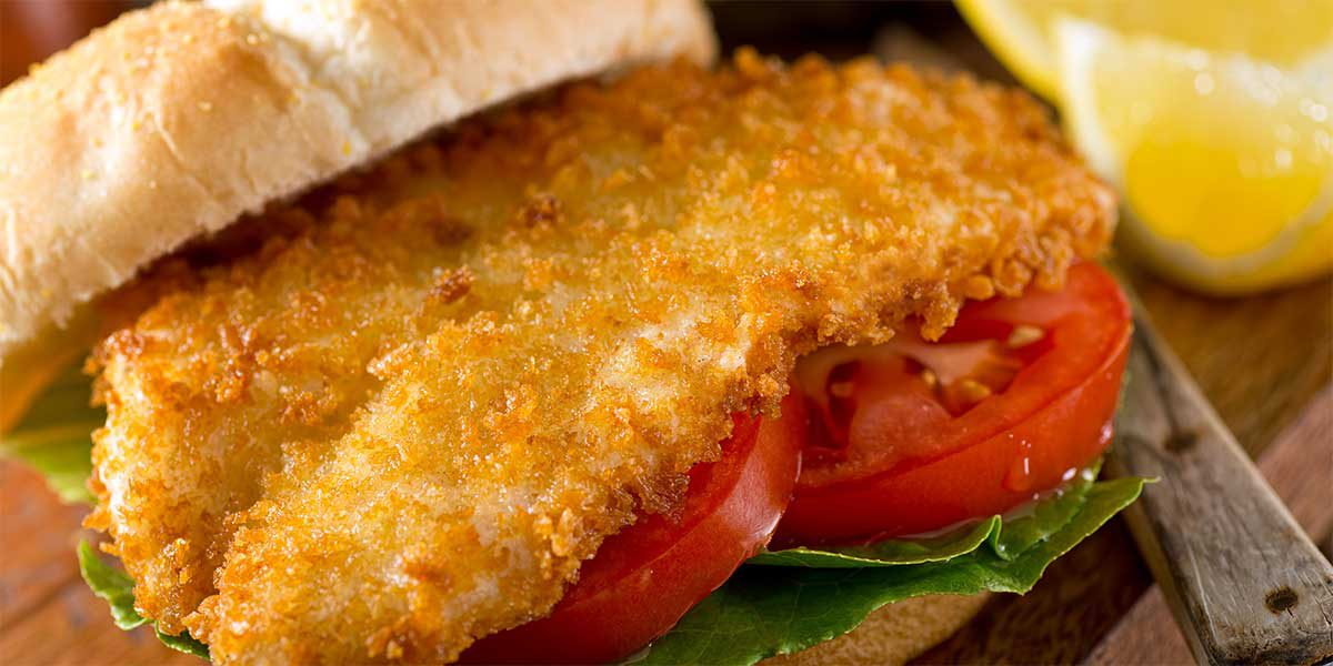 fried lake superior herring fish sandwich