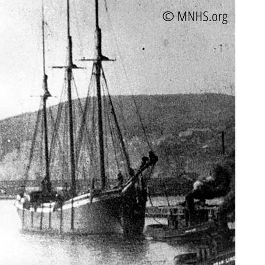 three-masted schooner historical phto