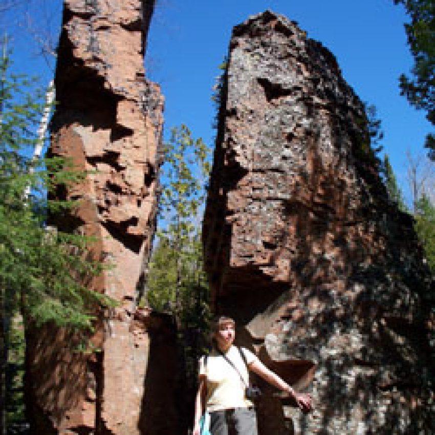 split rock spires