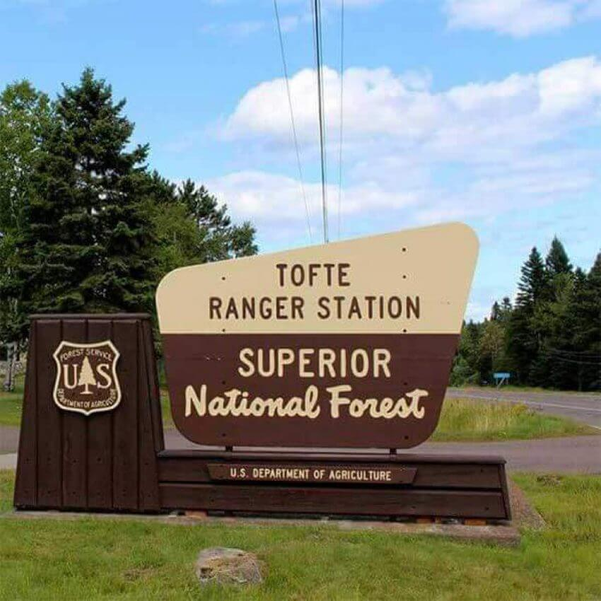 tofte ranger station superior national forest ranger station sign